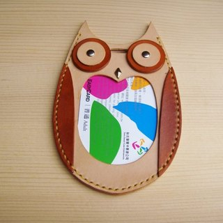 [ISSIS] handmade leather styling documents, travel card set - owls on the 2nd