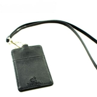 "[Dogyball] ""exchange gift"" brand leather decoration staff identification card detachable card item set black"