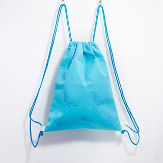 Tanabata gift bouquet India feel after opening backpack / shoulder bag / portable package - Bluebird (light blue)