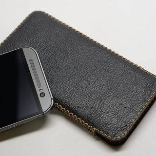 HTC M8 vertical leather holster