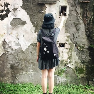 Water repellent black 畚 箕 bag / backpack / diagonal backpack / handbag / side backpack / water repellent bag / canvas bag