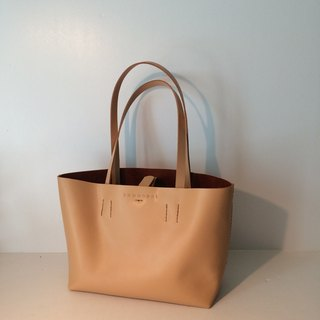 Zemoneni leather tote bag Beige color in S size