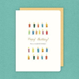 Berger stationery x watercolor hand-painted thick card [elephant / cake / balloon / candle] four design