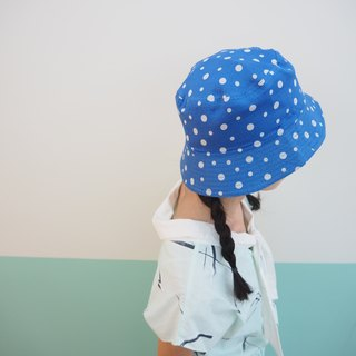 Bubble blue fisherman hat