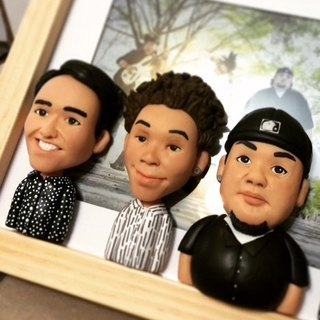 [Is to box you] personal clay doll photo frame (3)