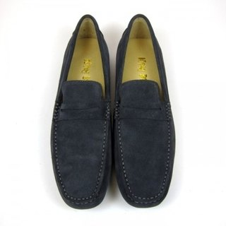 Fort Tony Wang handmade leather shoes (M) [frosted cow / soled / dark gray]
