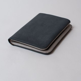 SHOT straight short light blue-gray leather folder
