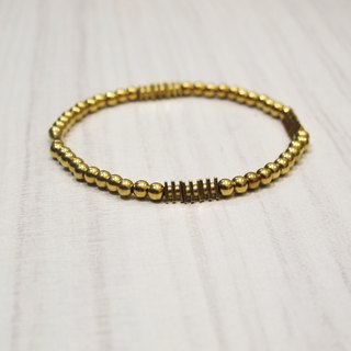 Brass Bracelet (06) - Gold Wire Series