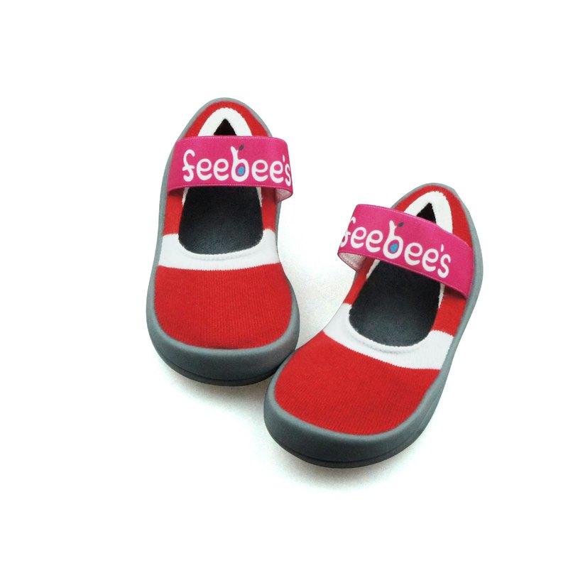 feebees學步鞋/襪鞋/室內外皆可穿 - 飛比派/火焰紅
