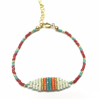 ololssim white and red retro ethnic bracelet (0826)