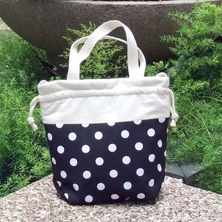 Silverbreeze ~ 3 in 1 hand bag / shoulder bag / cross body bag ~ White polka dots on black