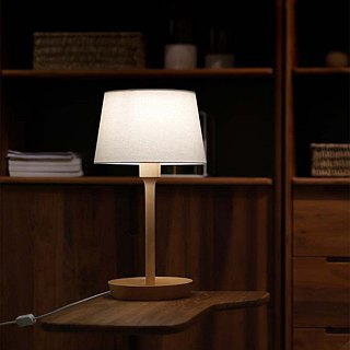 Beladesign. Tray disc solid wood lamp German beech