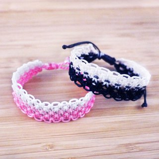 [Romantic lace] silk wax line braided bracelet