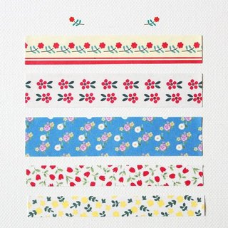 Valentine's Day -GentleWave-Flower Lifestyle decorative stickers group (2) - Masking tape stickers, GTW10346