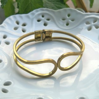 Classic Brass bracelet (with - silver polishing cloth)