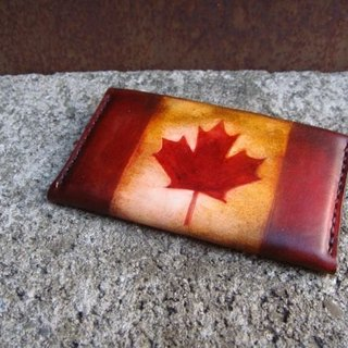 [ISSIS] envelope-type lightweight portable small card holder / card holder - (10) Maple Leaf flag