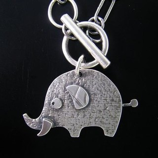 Ark Series --- elephant Silver Necklace