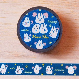 *Mori Shu*and paper tape - mochi rabbit Team subsection (blue)
