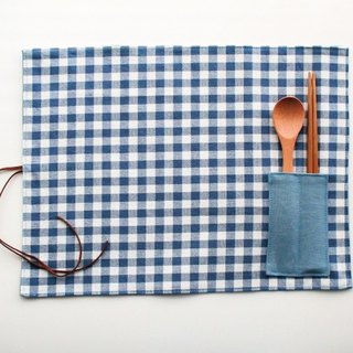 Classic Plaid Placemats - Blue Plaid