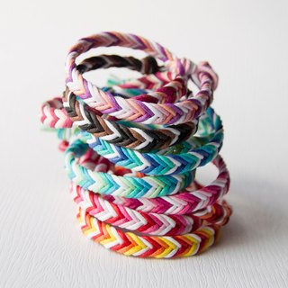 Deep - rough version neutral style / hand-woven foot ring