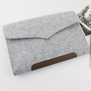 "Original handmade light gray blankets Apple computer protective sleeve blankets sets of laptop bags 13-inch computer bag MacBook 13.3 ""Pro Retina (can be customized) - ZMY008LG13R"