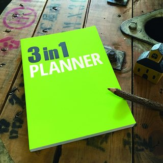 3 in 1 Planner notebook - Green