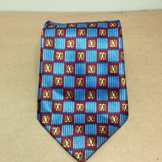 Classic retro geometric arrangement Plaid totem visual vintage tie