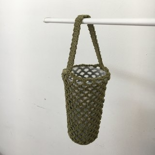 Bottled woven mesh bag, matcha