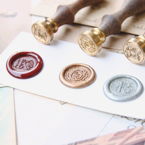 Sealing Wax Stamp Set w/a wax- alphabet A to Z