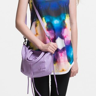 [Summer Ma Caron color] Qin summer rock small SODA cowhide special bag fantasy purple | portable | shoulder back