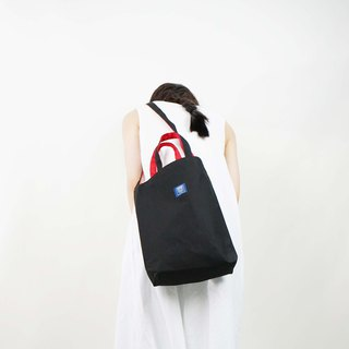 ::Bangstree:: two-colored reversible canvas bag -Black+Red