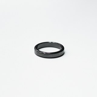 Simple Series - Silver Ring/Black