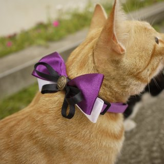 Safety x pet collar mysterious purple naughty little witch cats and dogs / Collar / tie / Jojo ♥ cherry pudding Cherry Pudding ♥