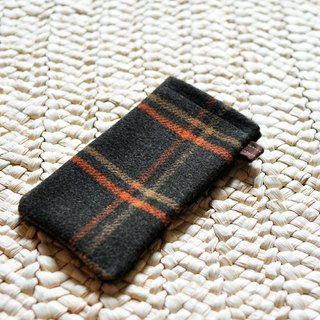 Paralife tailor-made green checkered phone cover can add embroidery personalized name