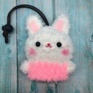 Marshmallow Animal Key Bag - Small Key Bag (White Rabbit)