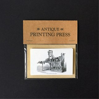 Antique printing presses small card