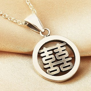 Congratulatory word sterling silver necklace China style -ART64 silverware