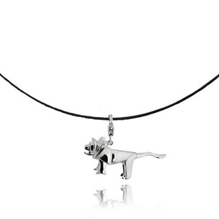 Origami domineering little fairy Silver Lion Necklaces