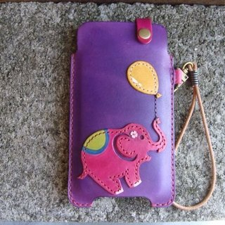 [ISSIS] naughty baby elephant - all hand-made leather phone