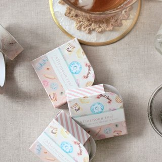 Enjoy a delicious afternoon tea illustration paper tape + tape station