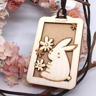 MuMu Sweety Rex Rabbit / White Rabbit / Ticket Card Holder / Hardcover