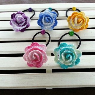 Braided flower hair accessories