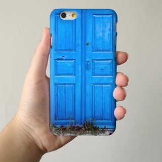 Blue Door3D Full Wrap Phone Case, available for  iPhone 7, iPhone 7 Plus, iPhone 6s, iPhone 6s Plus, iPhone 5/5s, iPhone 5c, iPhone 4/4s, Samsung Galaxy S7, S7 Edge, S6 Edge Plus, S6, S6 Edge, S5 S4 S3  Samsung Galaxy Note 5, Note 4, Note 3,  Note 2