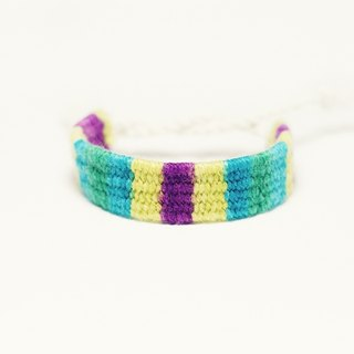Hand woven wool hand rope - South stripes