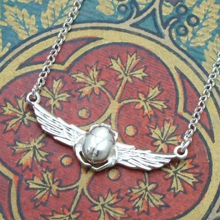 Scarab Silver Necklace