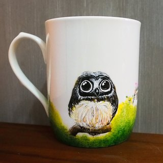 Careful Handle Mug Series - Innocent Owl