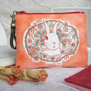 <Animals in the Secret land> The Rabbit in bushes coin purse (big size)