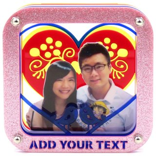 Customized perspective Puzzles Frame - Personalized love birds theme x