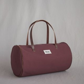 100% handmade in Spain| Ölend Lupe Fabric| Leather |Zipper Barrel Bag (Bourdeaux