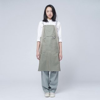 Rin City Apron ACE - Light olive green cotton water repellent workwear